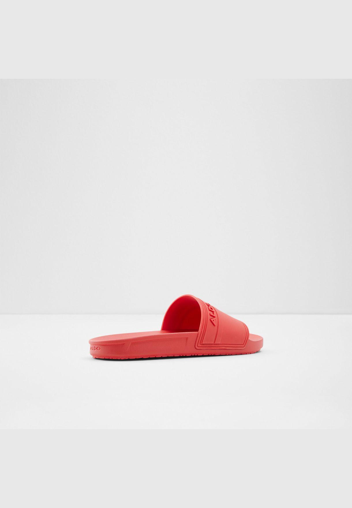 Synthetic Leather Sandal Flat Heel