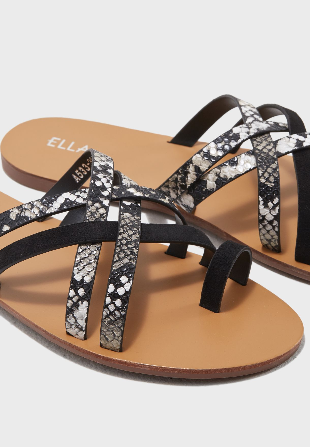 f735e26b26620a Shop Ella black Alyson Sandal A533-302 for Women in Kuwait ...