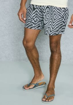 Distortion Printed Swim Shorts