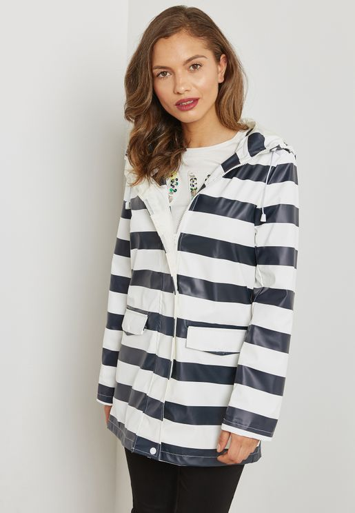 Striped  Raincoat