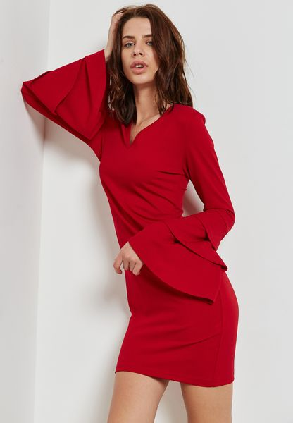 Tiered Sleeve Dress