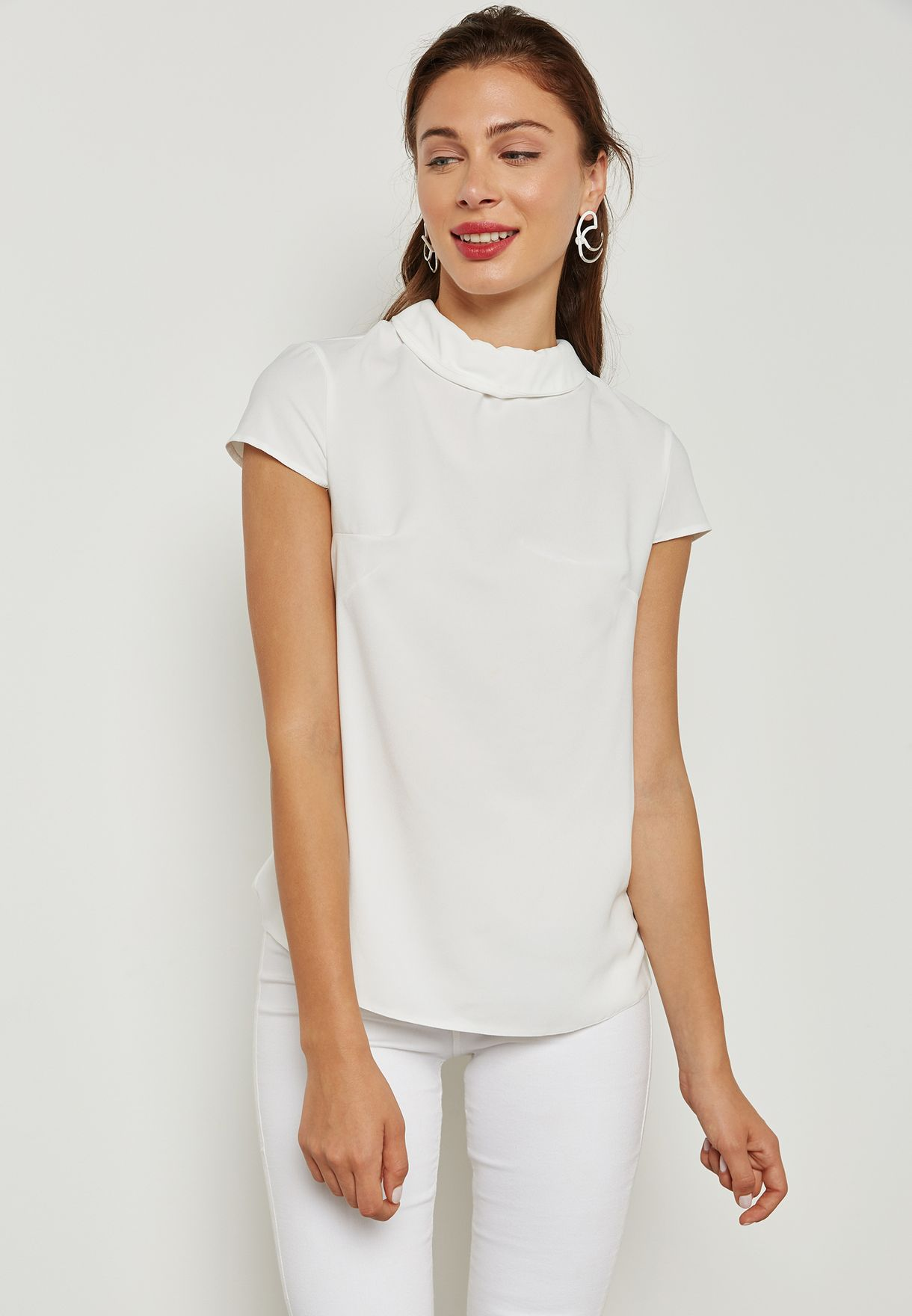 2c0211dc6 Shop Dorothy Perkins white Bow Back T-Shirt 05707882 for Women in ...