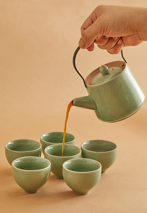 Moss Green Arabic Coffee Set