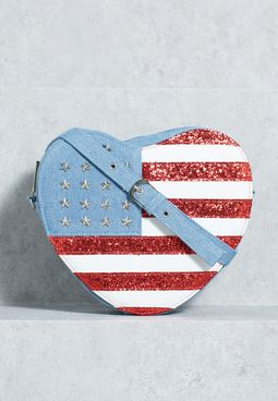 USA Heart Cosmetic Bag