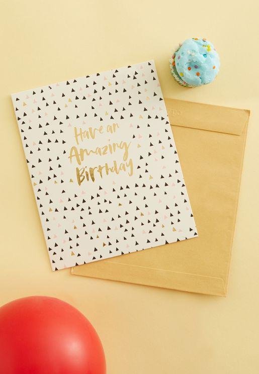 Amazing Birthday Card