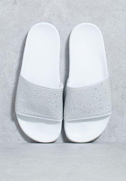 Diamante Flat Sandals