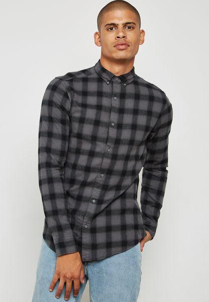 Gustauv Check Print Shirt