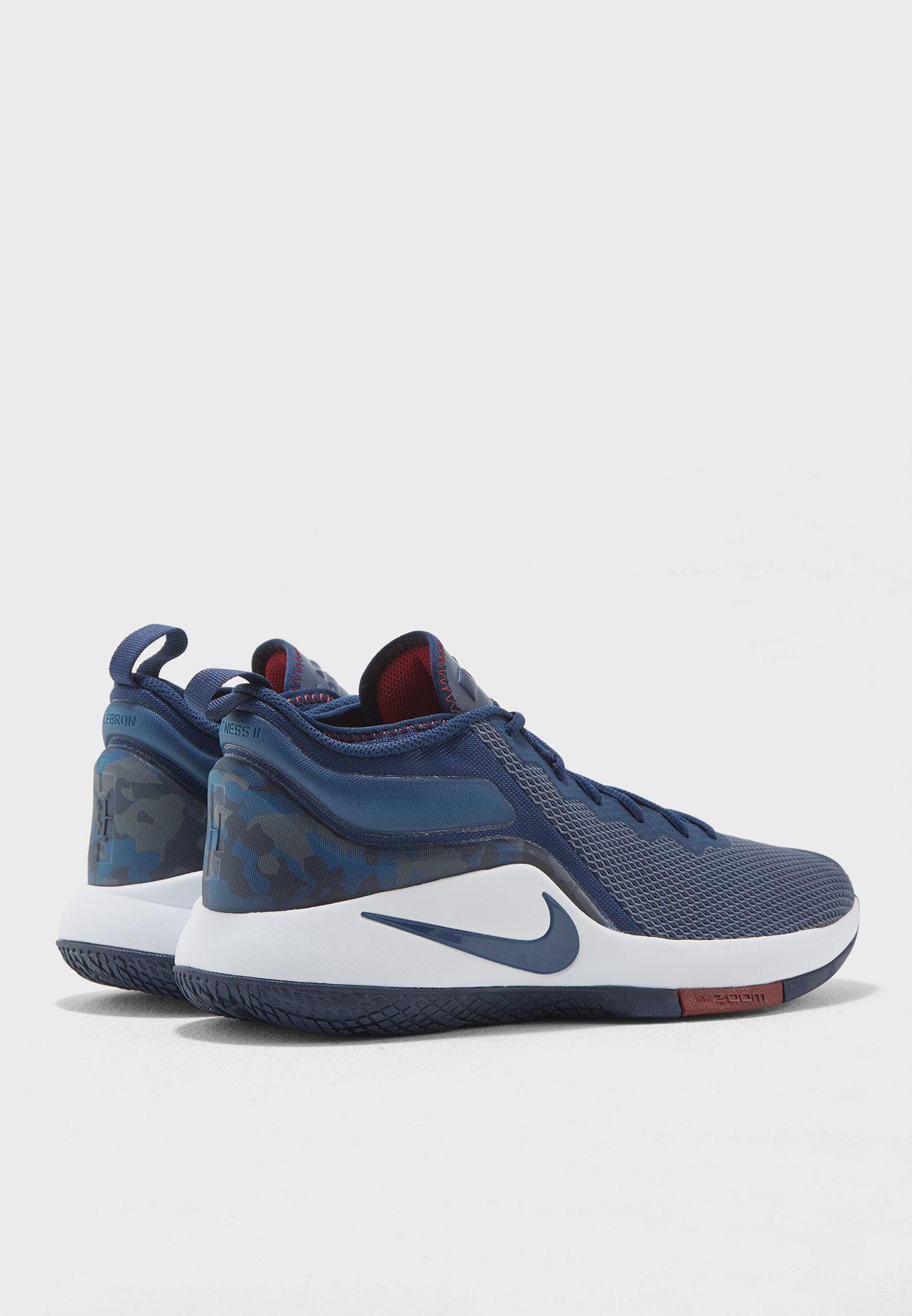 956ef69c972ba Shop Nike navy LeBron Witness II 942518-406 for Men in UAE ...