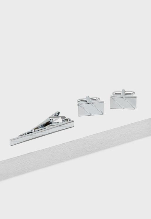 Cufflinks + Tie Pin Set