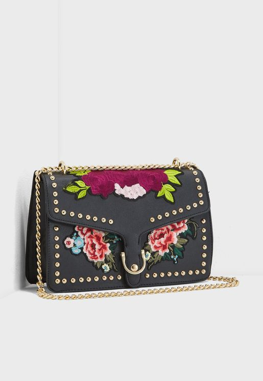 Buckled Floral Crossbody