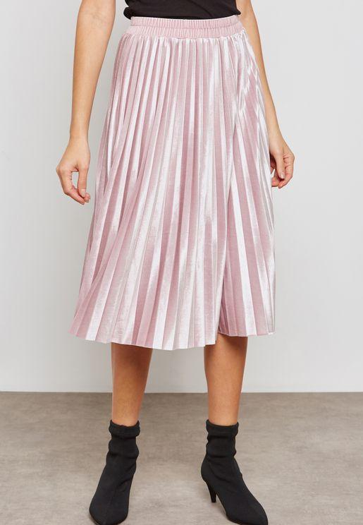 Shimmer Pleated Skirt