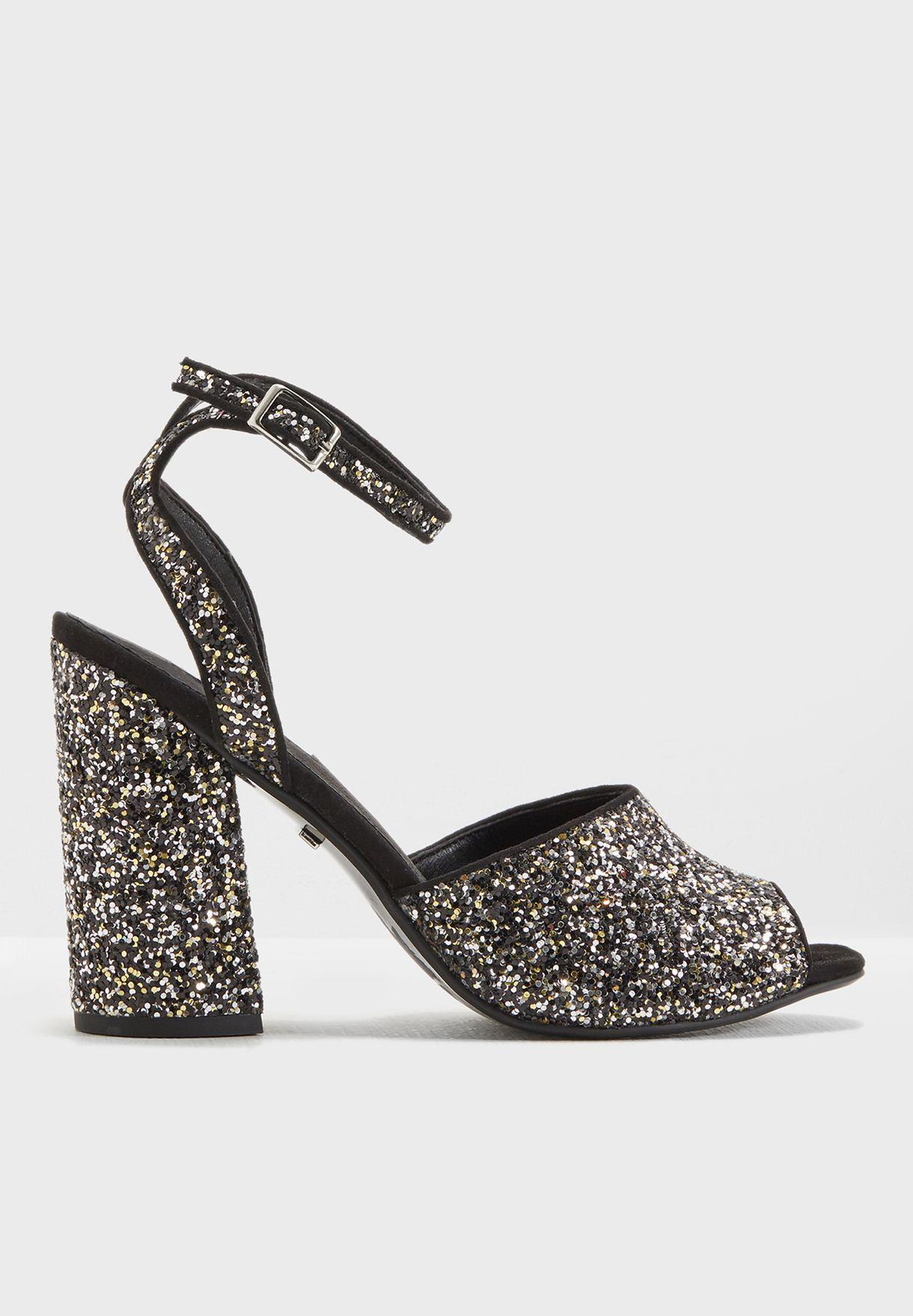 358804d43 Shop Topshop multicolor Rocky Block Heel Sandal 32R59MMUL for Women ...