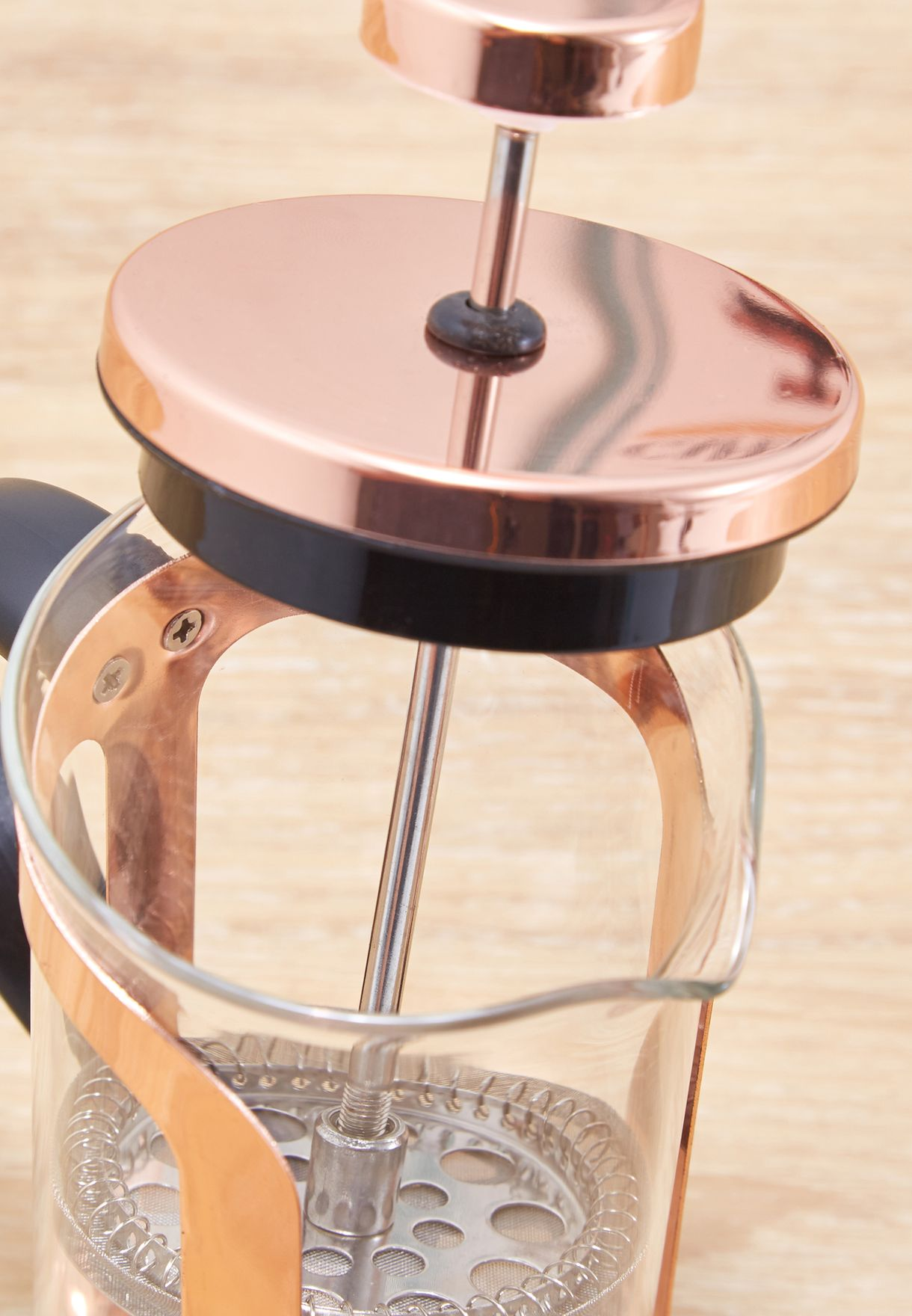 Rose Gold French Press Coffee Maker 350ml