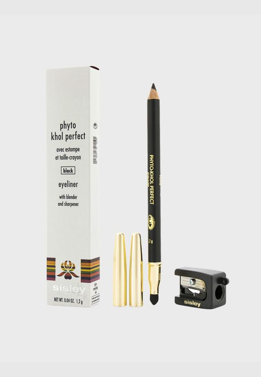 Phyto Khol Perfect Eyeliner (With Blender and Sharpener) - # Black