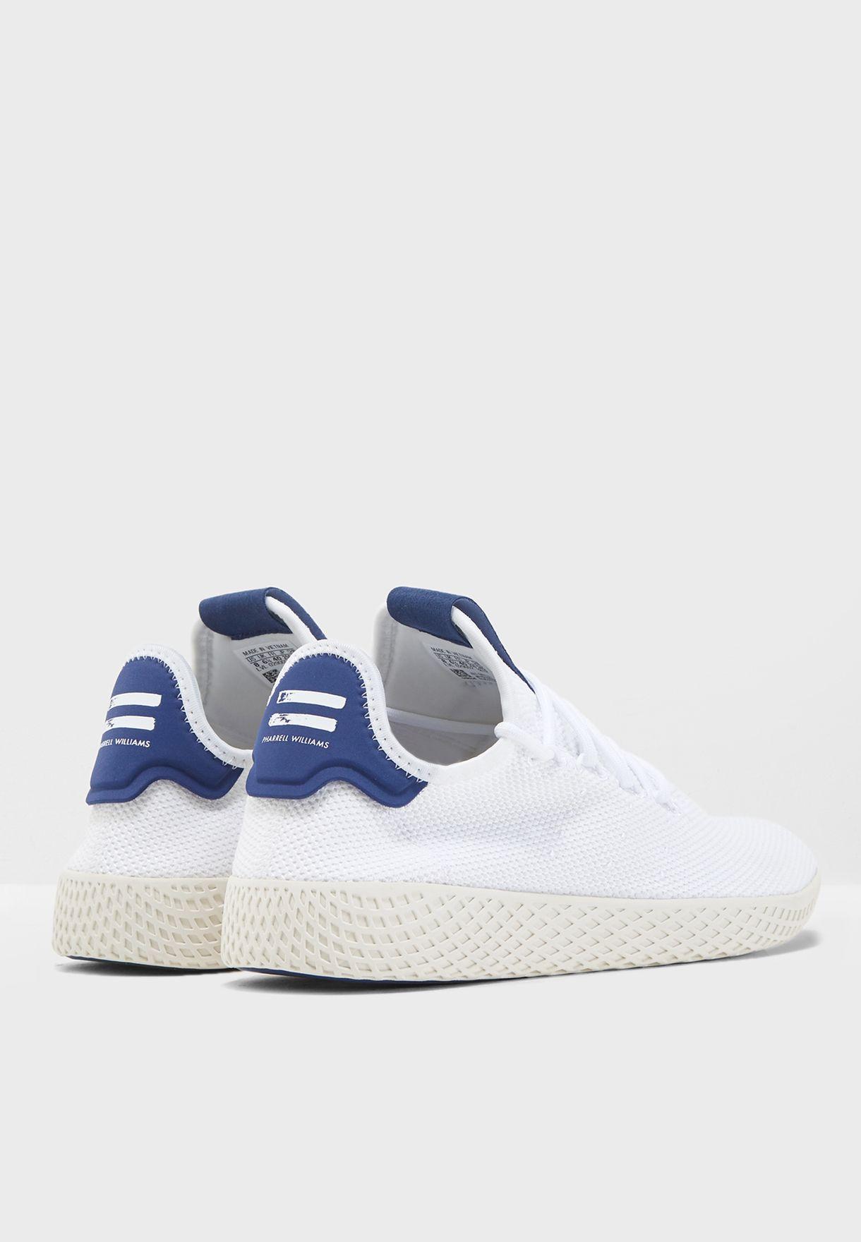 41d6230a2 Shop adidas Originals white Pharrell Williams Hu Tennis DB2559 for ...