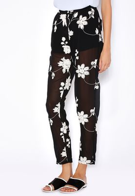Ella Half Inner Embroidered Pants