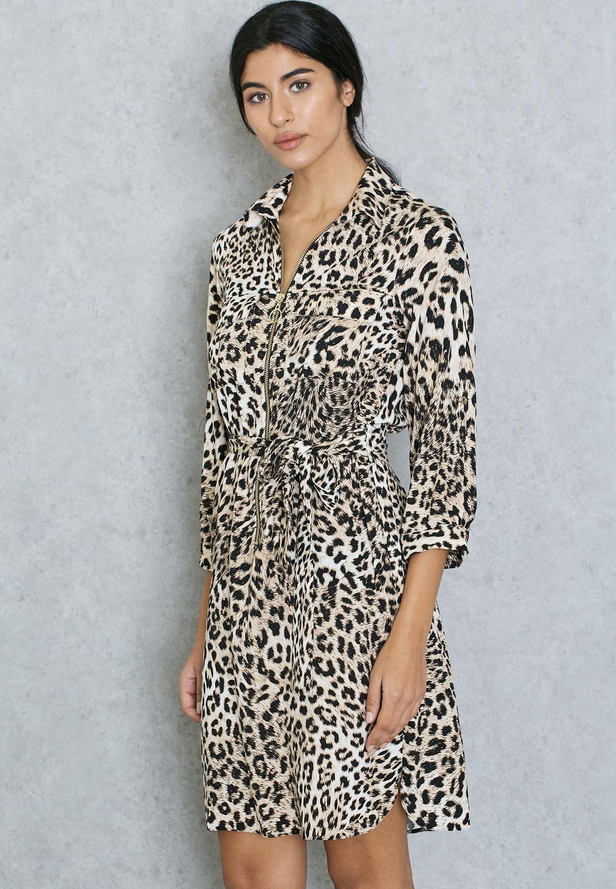 10dcedacd9 Shop Dorothy Perkins prints Animal Print Shirt Dress 07240753 for Women in  Bahrain - DO860AT08SWP