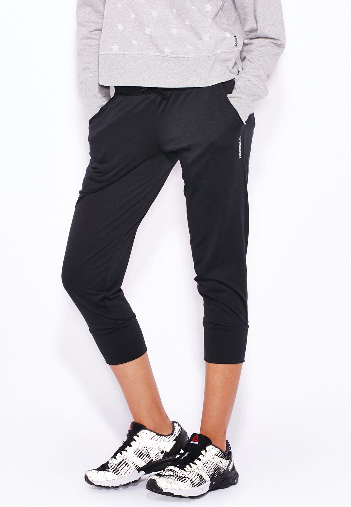 88fdecf7789b Shop Reebok black Elements Jersey Capri AJ2741 for Women in Bahrain -  RE019AT08WXN