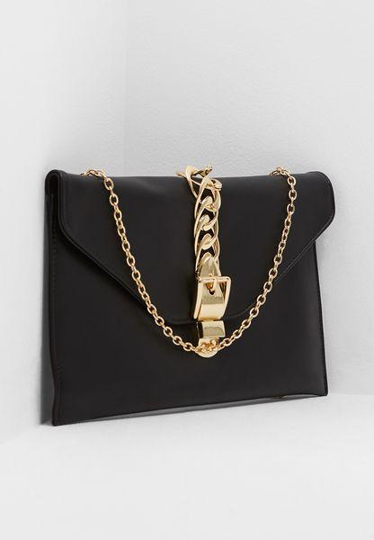 Chain Buckle Clutch Bag