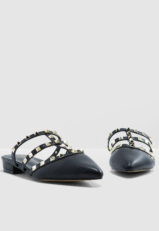 Barbara Studded Slip-Ons