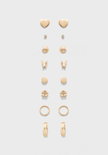 Pack of 8 Earring Studs