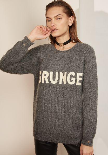 Slogan Ribbed Sweater