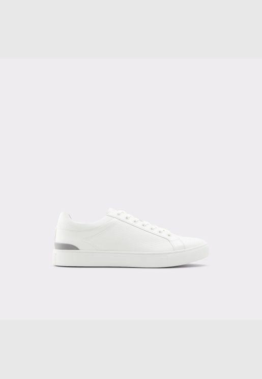 ALDO EISINGEN Men Synthetic Leather Shoes Flat Heel Euro 46 White
