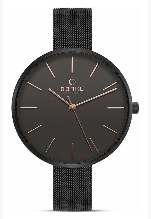 ساعة اوباكو فيول بسوار شبكي للنساء - V211LXBBMB