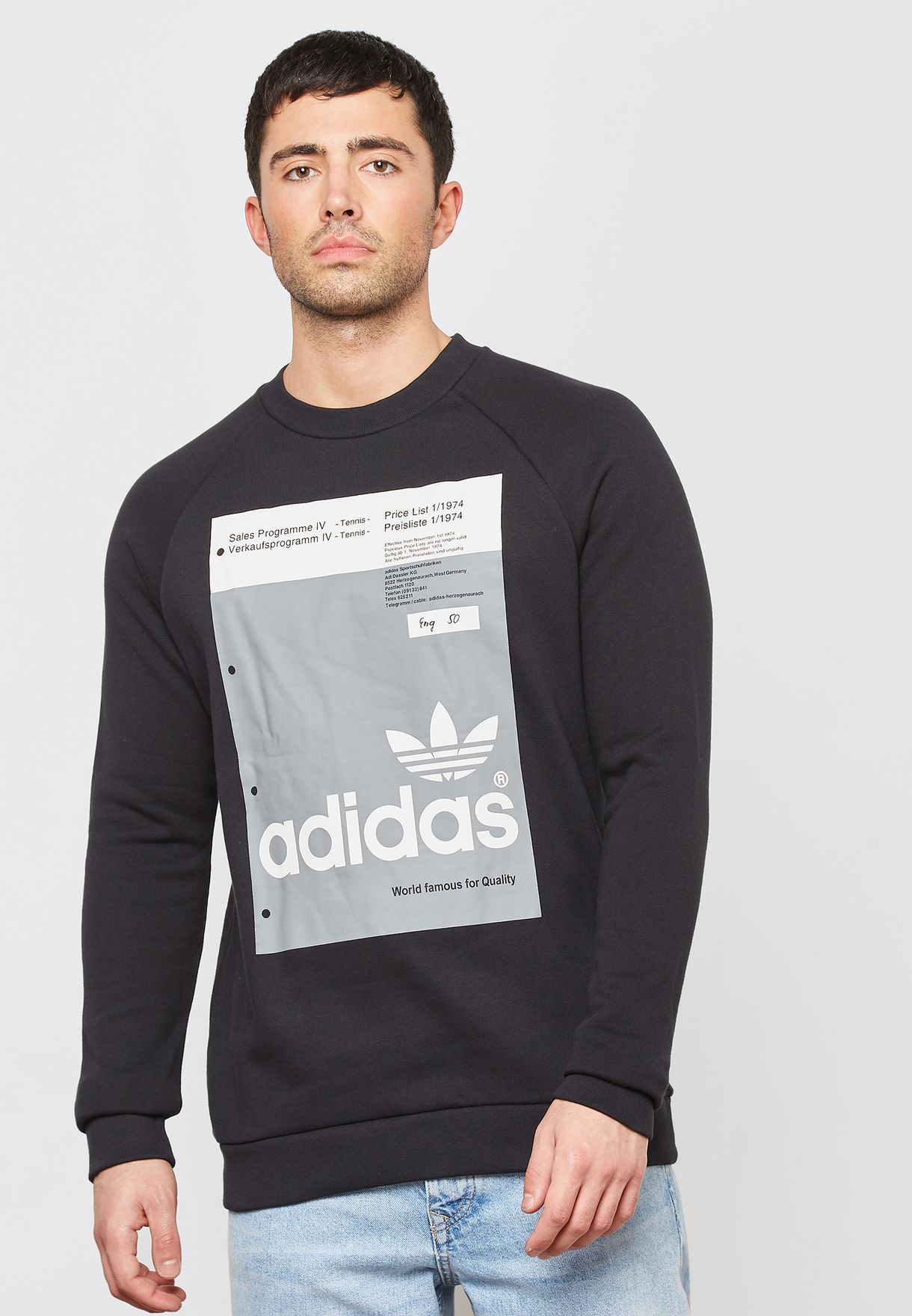 98c9ced47cd Shop adidas Originals black Pantone Sweatshirt DH4786 for Men in UAE ...