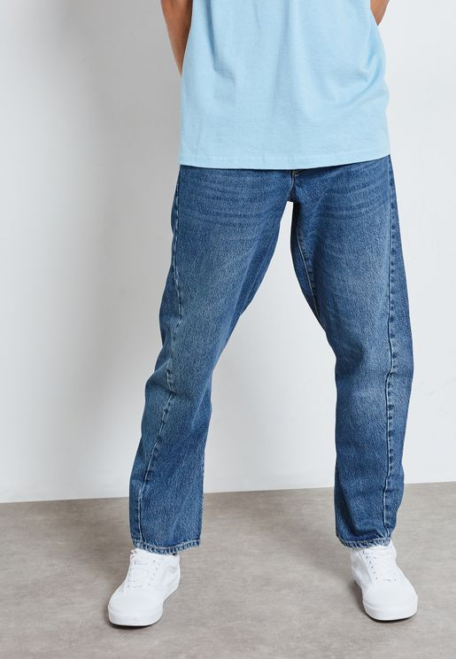 Washed Relaxed Fit Jeans