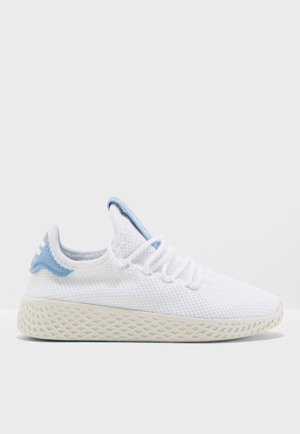 b29b36be3 Shop adidas Originals white Pharrell Williams Hu Tennis Kids BB6839 for Kids  in Bahrain - AD478SH08ATZ