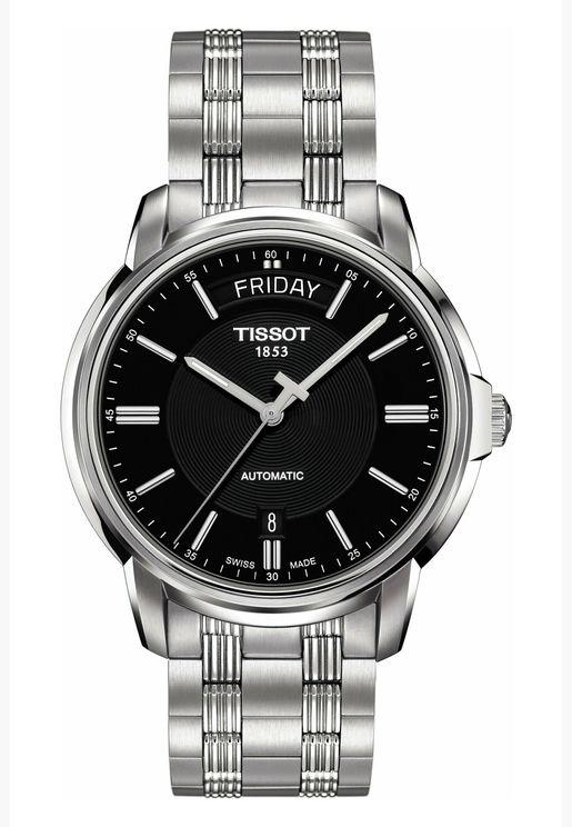 ساعة تيسو اتوماتكس III بسوار فولاذي للرجال - T065.930.11.051.00