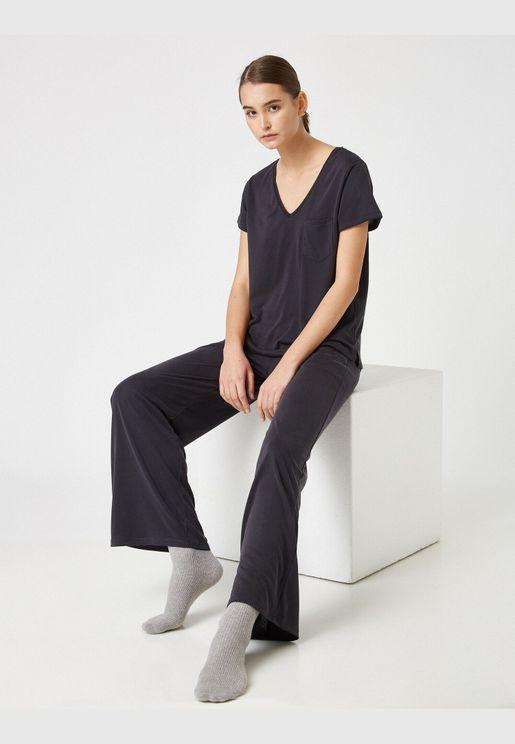 Respect Life   Yaşama Saygı - Wide Leg Pyjama Bottom