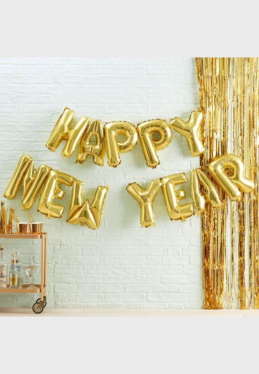 Happy New Year Balloon Bunting