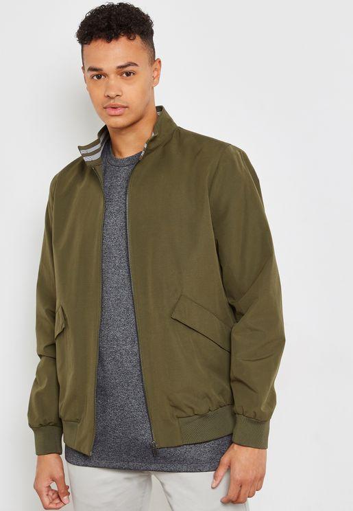 Raglan Harrington Jacket