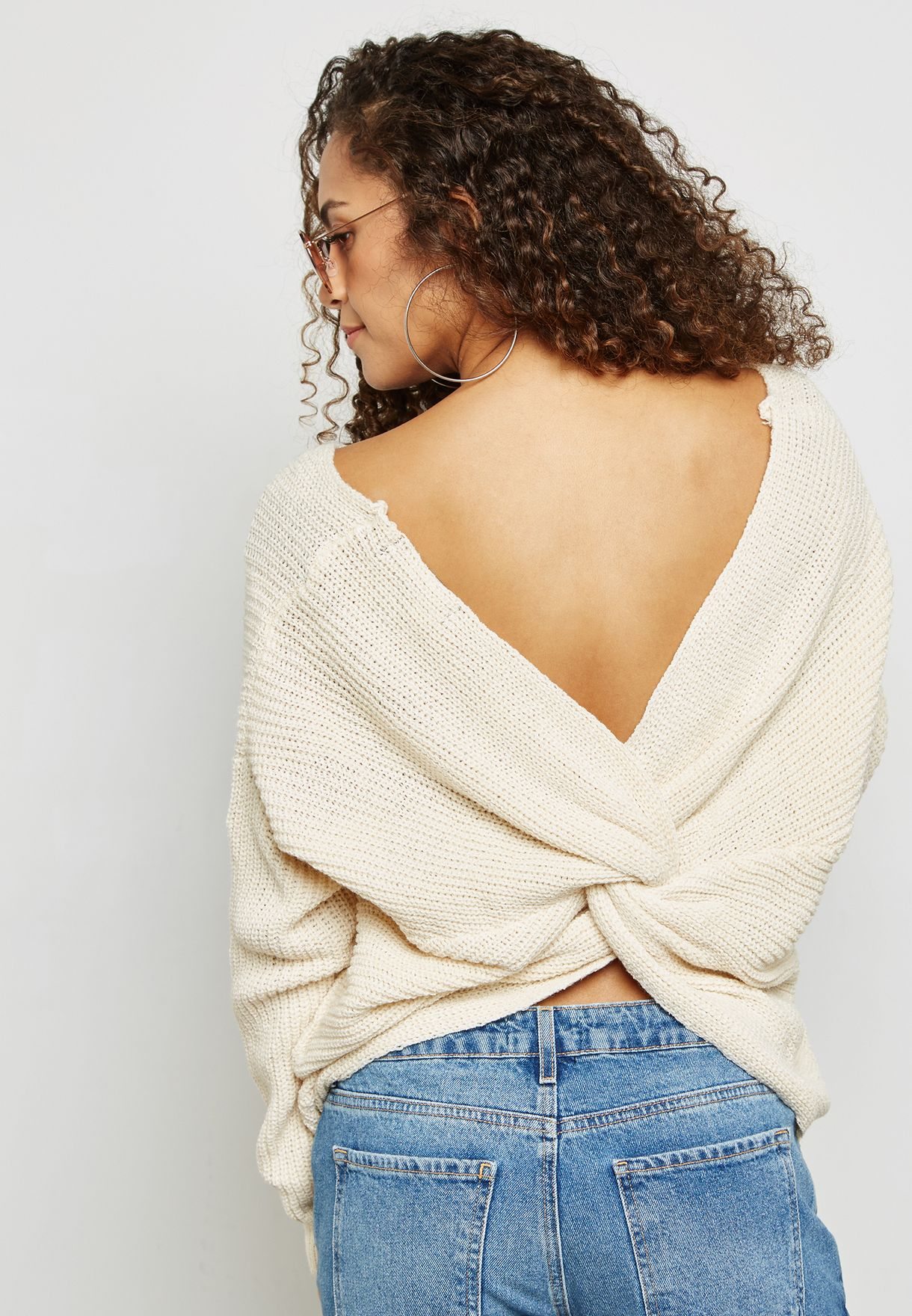 Back Ruched Sweater