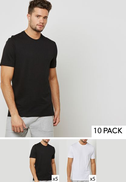 10 Pack Essential Crew Neck T-Shirts