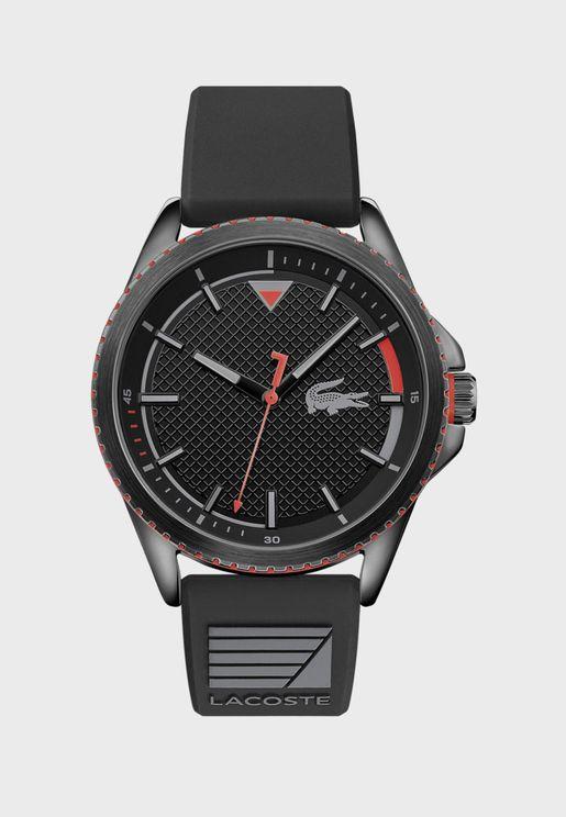 ساعة لاكوست ناوتيكال بسوار سيليكون للرجال - 2011029