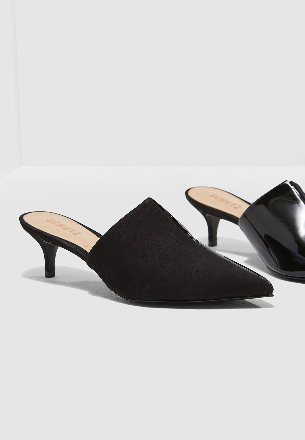 b2926e82ee Shop Schutz black Two Toned Kitten Heel Pump S0175201500001 for Women in  UAE - SC771SH08JCH
