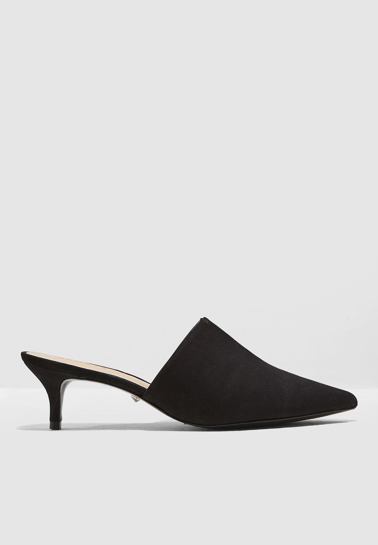79d0ec5bdf Shop Schutz black Two Toned Kitten Heel Pump S0175201500001 for ...