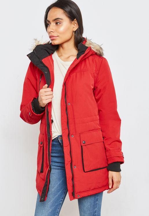 Fur Hoodie Mack Jacket