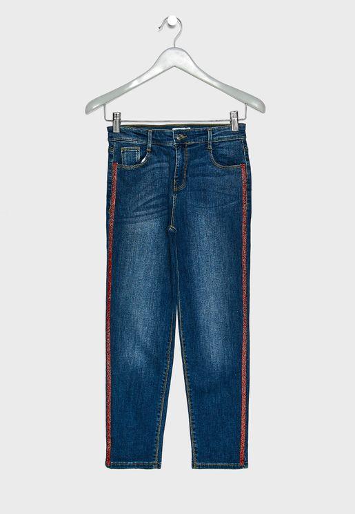 Teen Side Striped Jeans