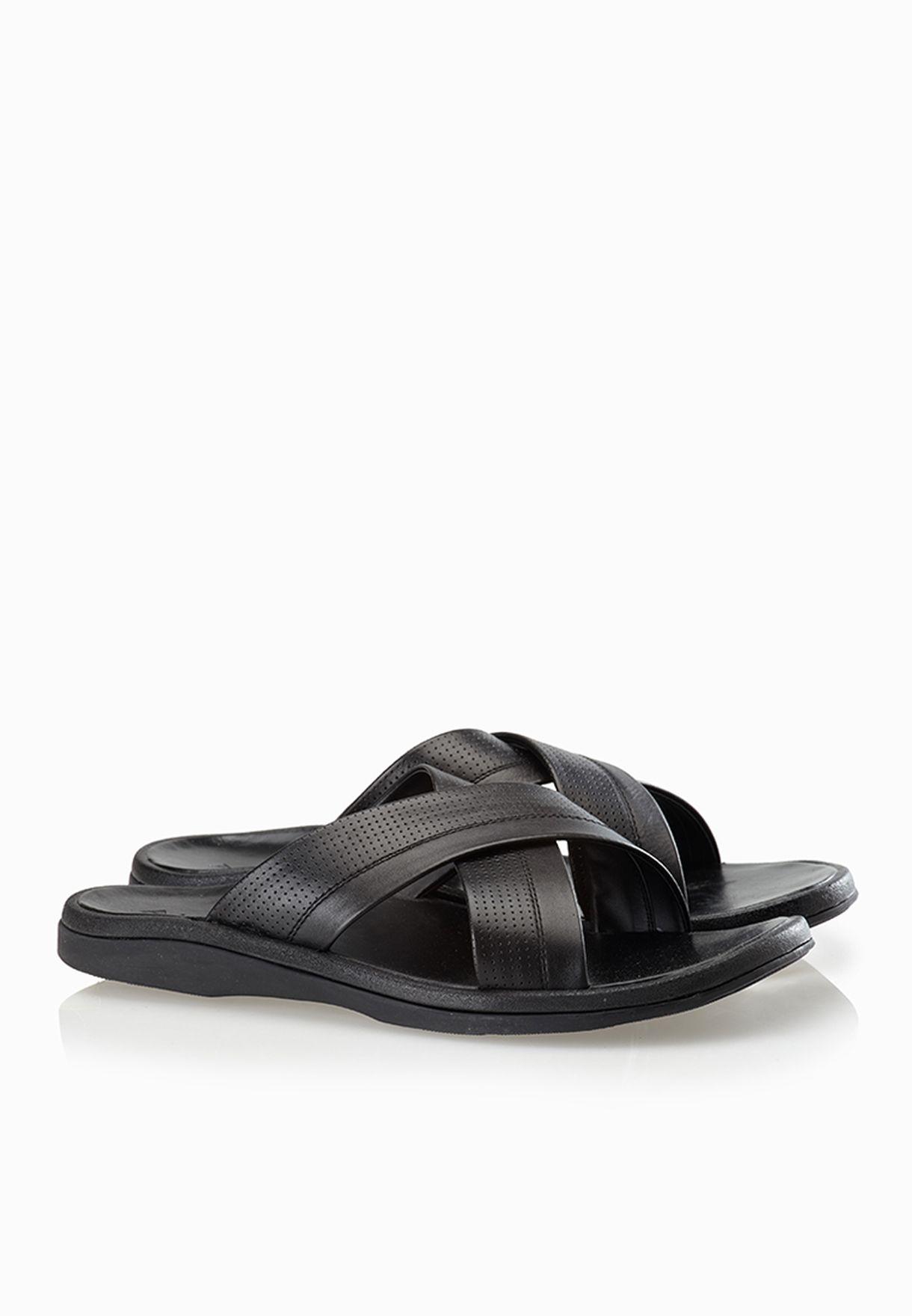 3d6f3085acf Shop Aldo black Criss Cross Sandals for Men in Qatar - AL729SH08BJZ