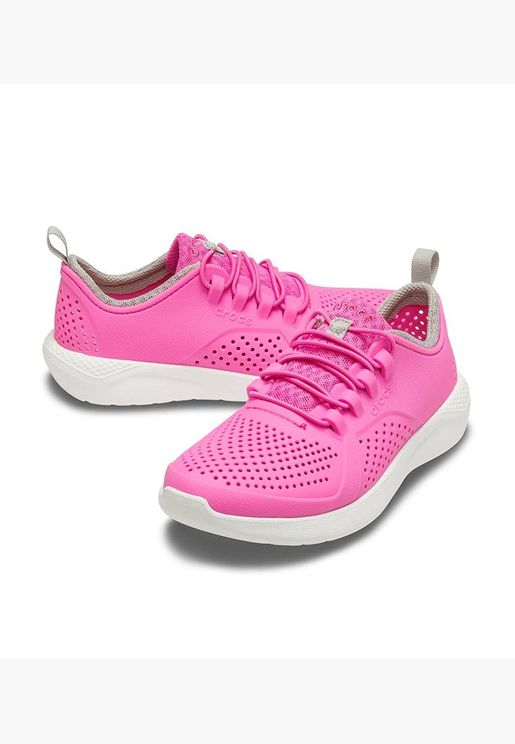 CROCS LiteRide Pacer K Unisex Kids EUR 38-39 Electric Pink/White