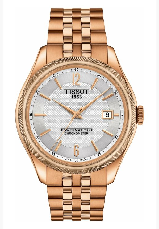 تيسو باليد كوسك ساعة بسوار ستانلس ستيل للرجال - T108.408.33.037.00
