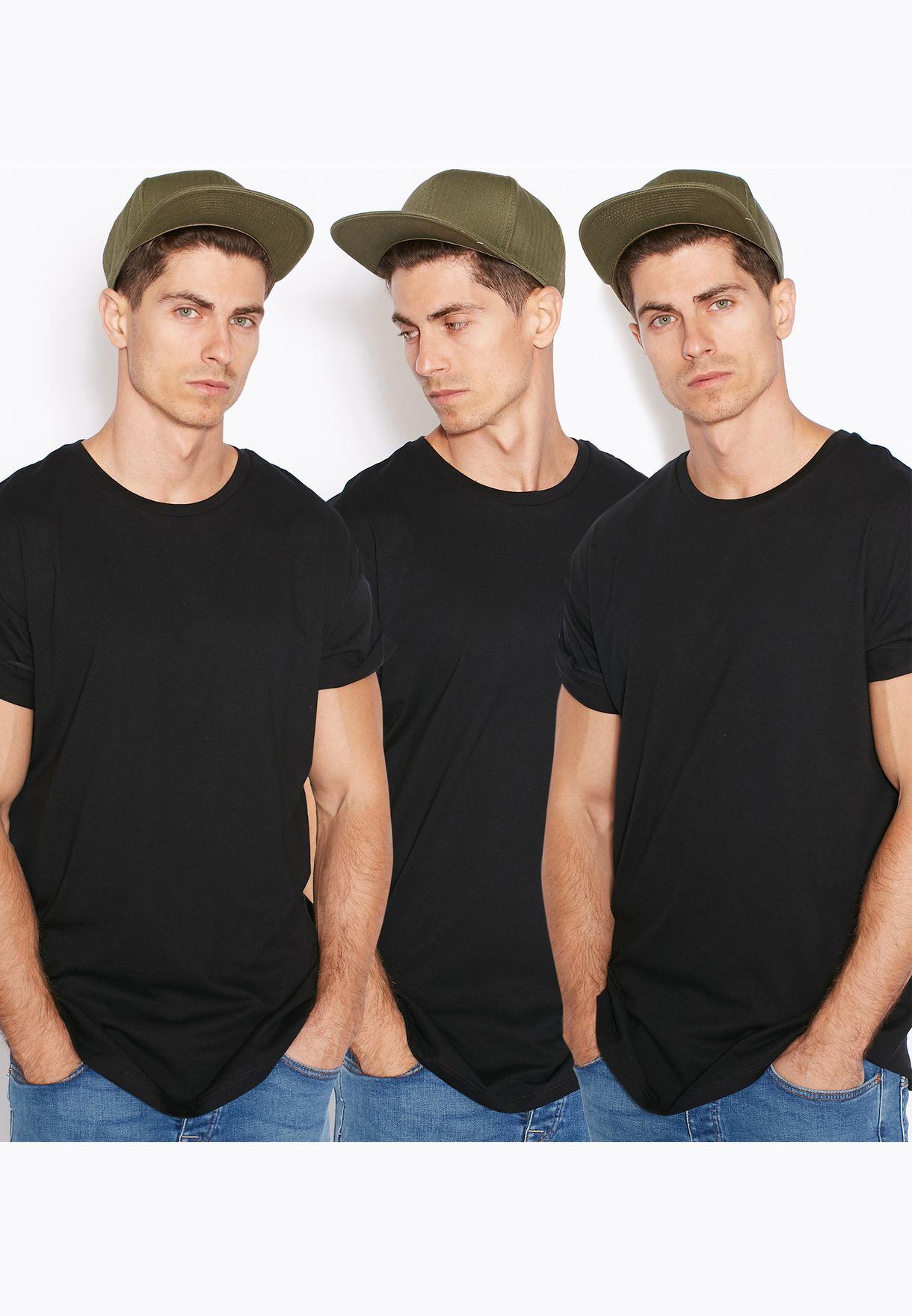 eaf4261a Shop Topman black 3 Pack Roller T-Shirt for Men in Bahrain ...