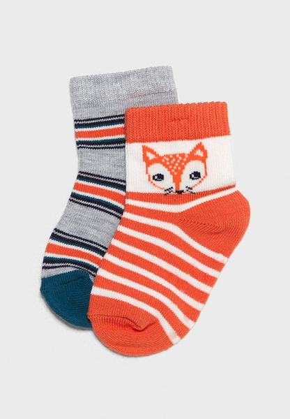 Infant 2 Pack Striped Socks