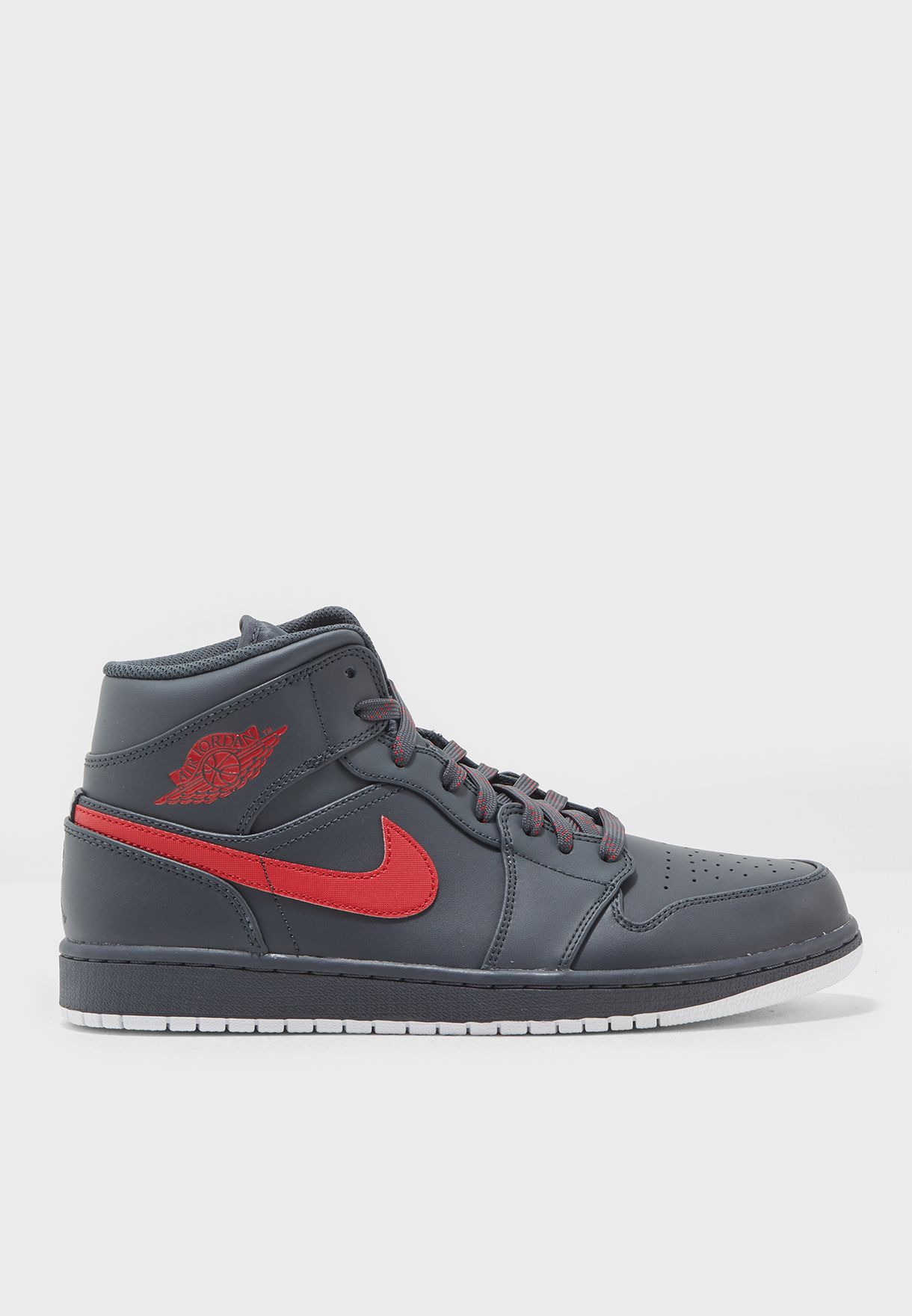dbf727c44b91d7 Shop Nike grey Air Jordan 1 Mid 554724-045 for Men in Kuwait ...