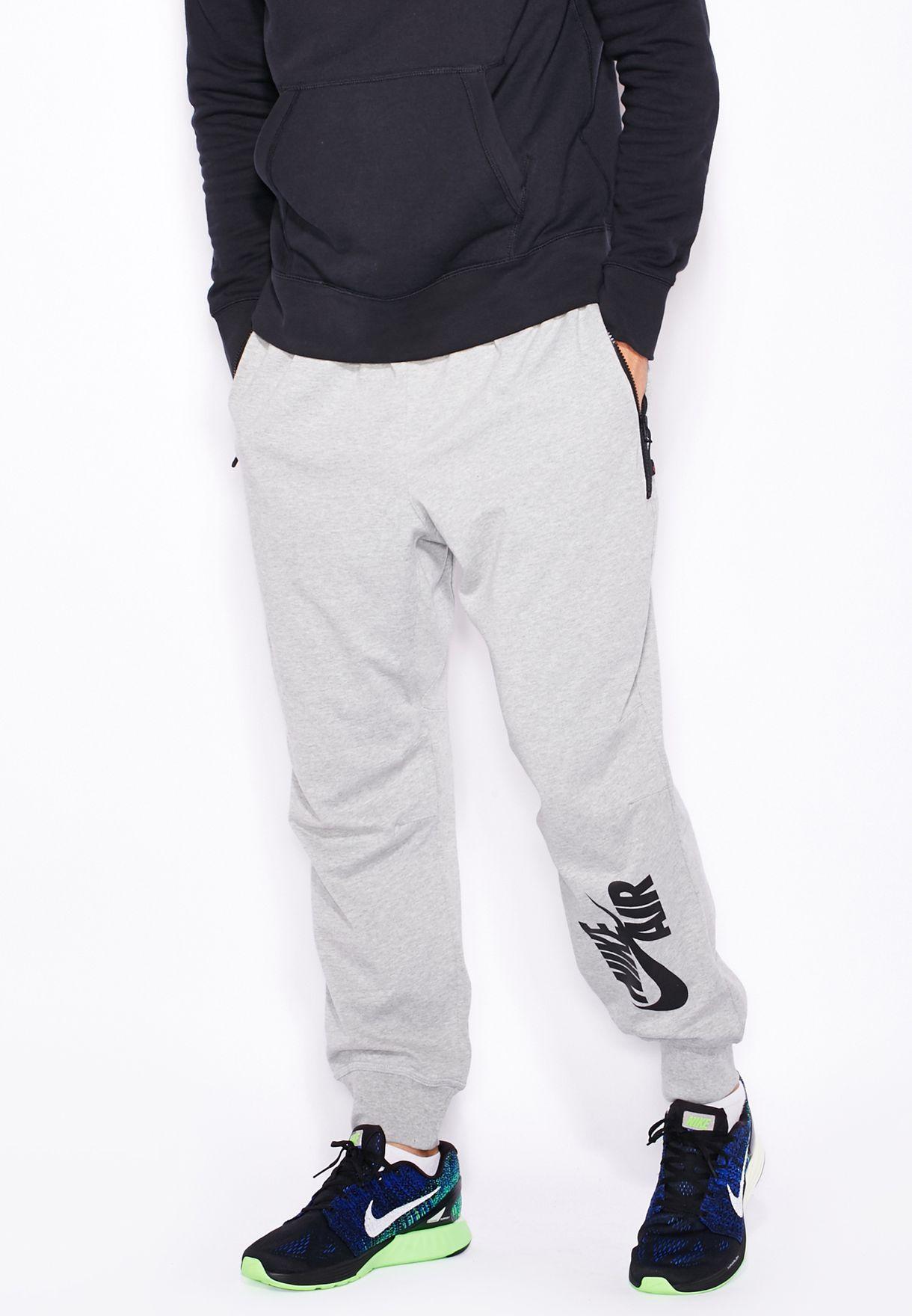 b2146a481143 Shop Nike grey Air Pivot V3 Sweatpants 728291-063 for Men in ...