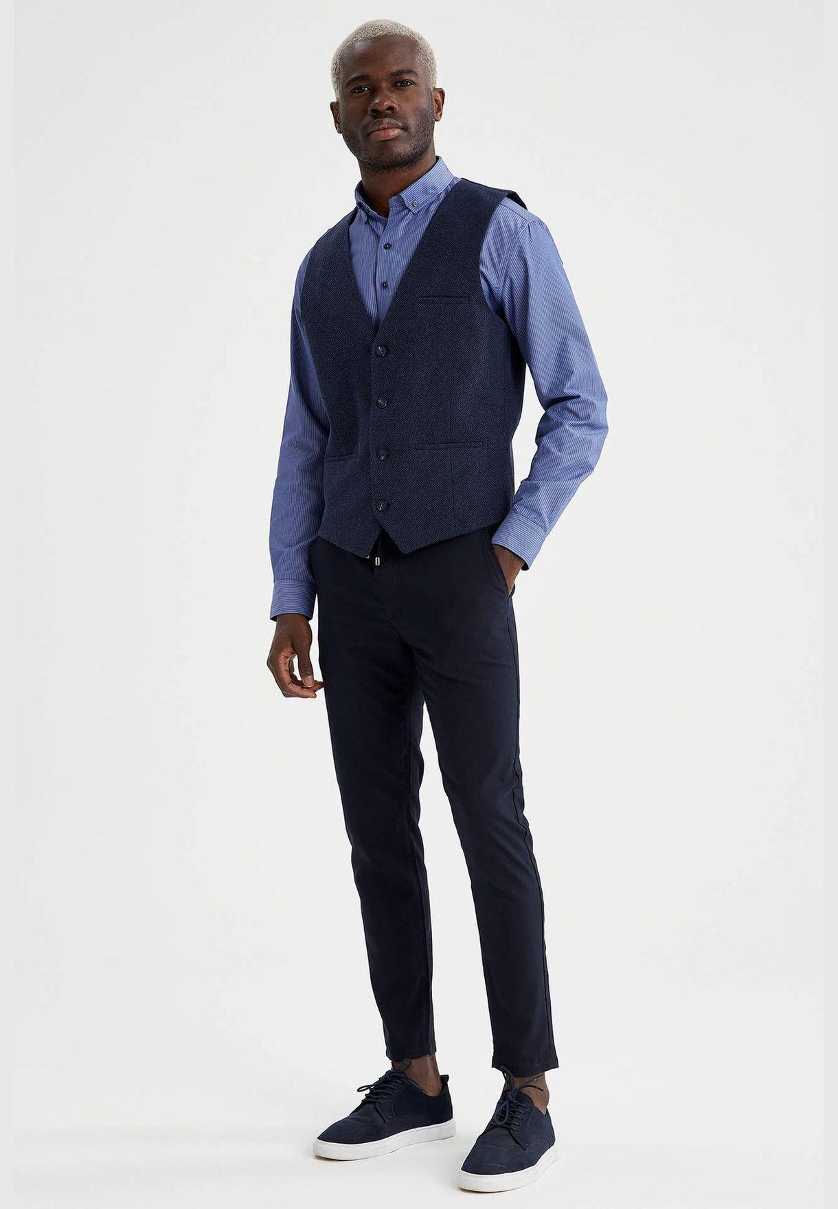 Man Slim Fit Vest